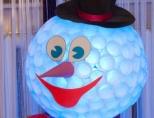 2986 Снеговик из пластиковых стаканчиков своими руками пошагово