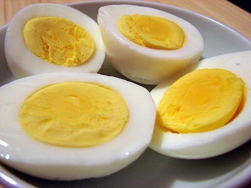 Вареные яйца при диете