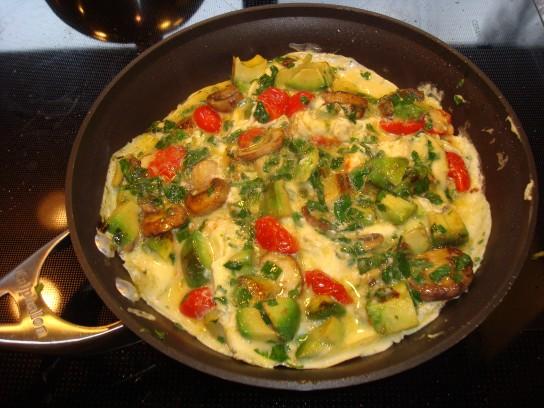 овощной омлет рецепт с фото