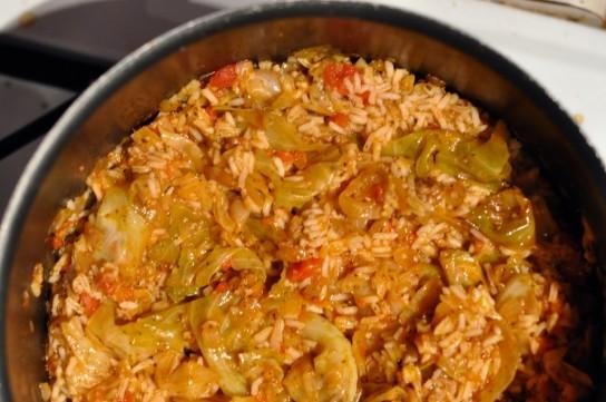 голубцы ленивые рецепт с рисом и фаршем в кастрюле слоями