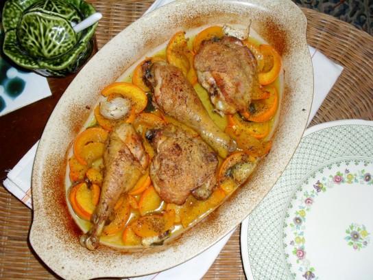 Рецепт голени курицы в духовке