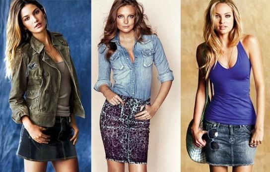С чем носить длинные и короткие джинсовые юбки  24dbb019b77