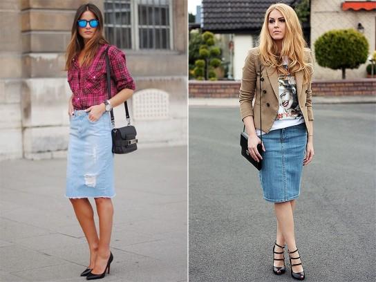 Лучшее сочетание джинсовой юбки с верхней одеждой 947acc84159