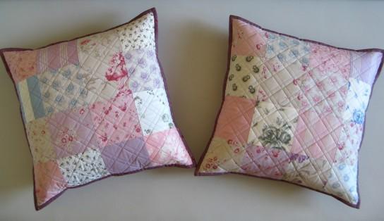 Сшить наволочку на подушку из кусков ткани 57