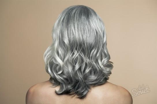 Закрасить седые волосы в блондинку