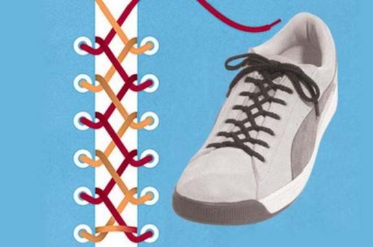 Как завязать шнурки на кедах красиво видео