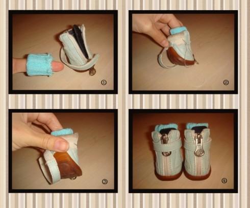 Как сшить ботиночки для собачки своими руками