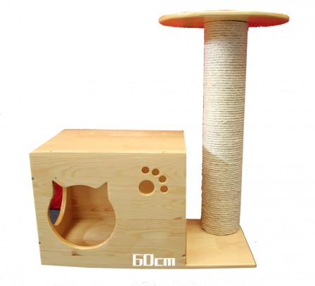 Домик для кошки своими руками из дерева фото