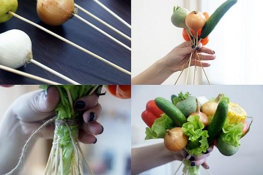 Как сделать букет из овощей своими руками пошаговое