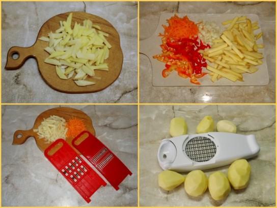 Как резать картошку фри