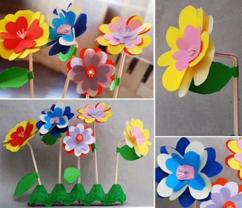 Детская открытка своими руками цветов 106