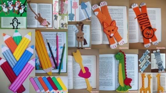 Веселые закладки своими руками для книги