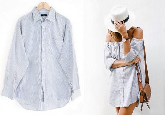 1091ed1477a Как из мужской рубашки сделать женскую блузку